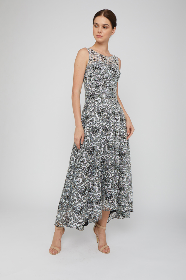 High-low Embroidered Gown